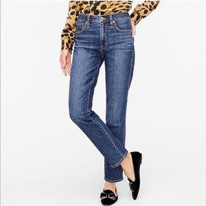 J. Crew Dark High Rise Vintage Straight Jeans| 28P